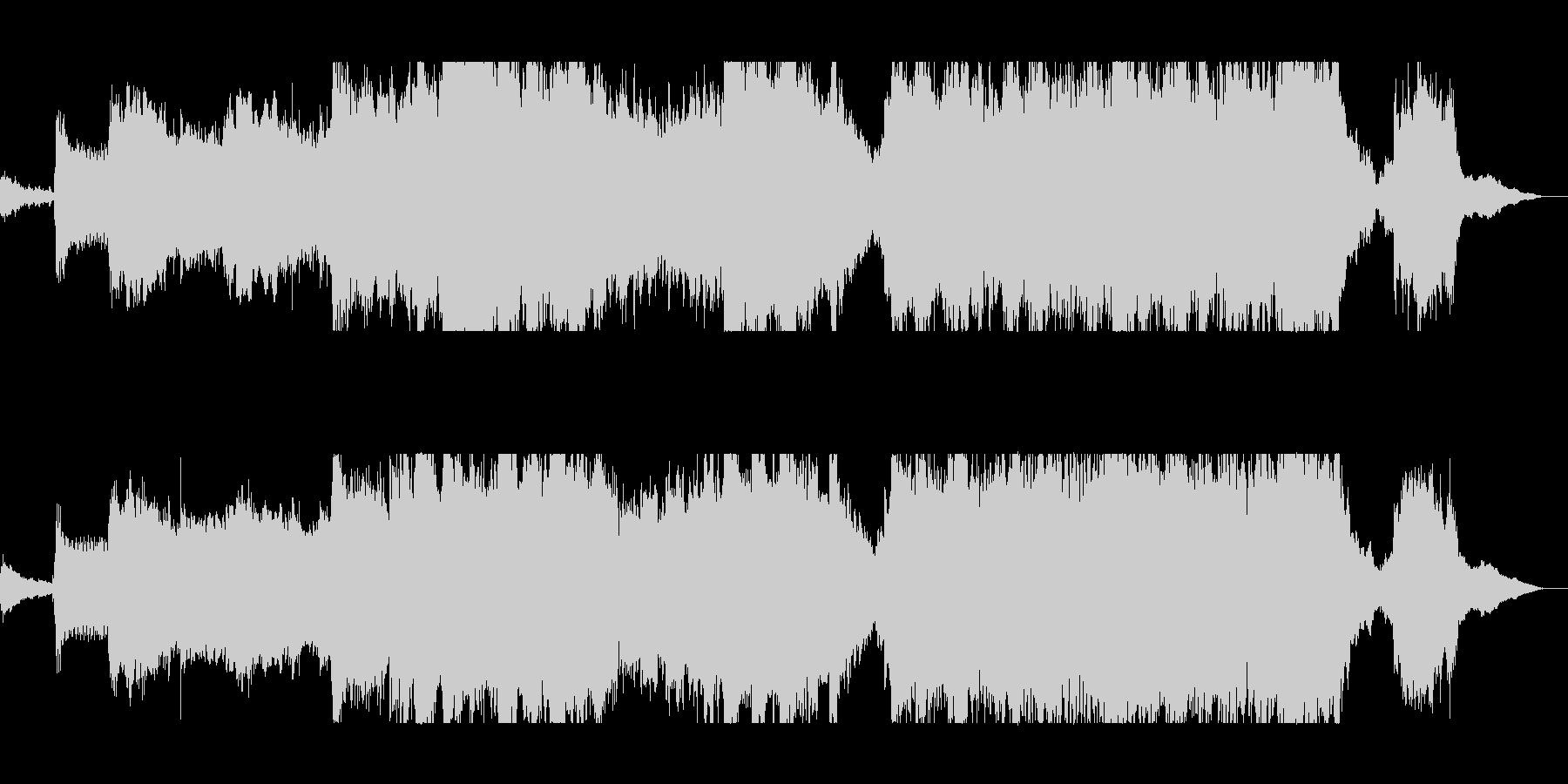 まったりとまろやかで幻想的なSFサウンドの未再生の波形