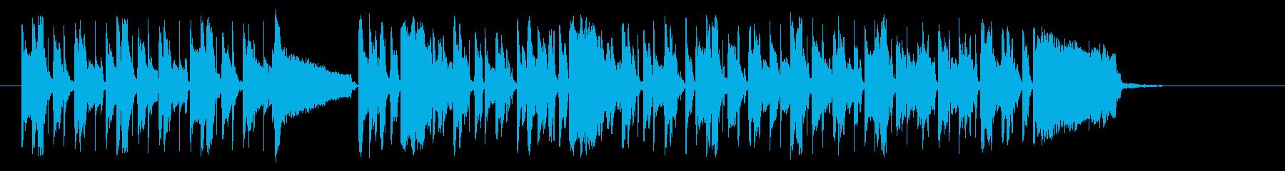 可愛いメロディのノリの良いポップスの再生済みの波形