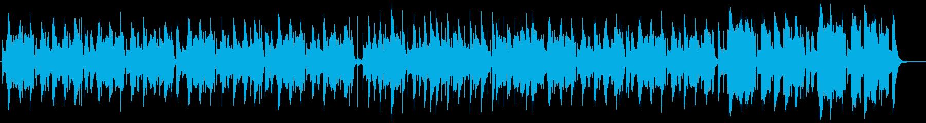 トランペットを使ったコミカルなBGMの再生済みの波形