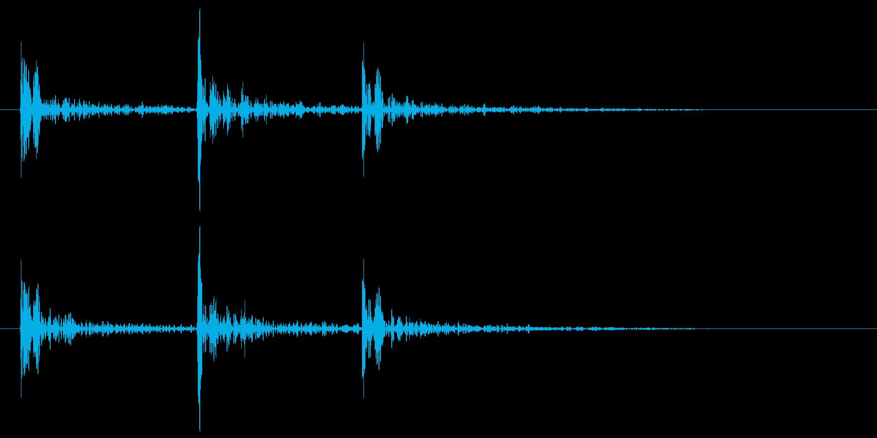 ドアノック 3回 トントントン コンコンの再生済みの波形