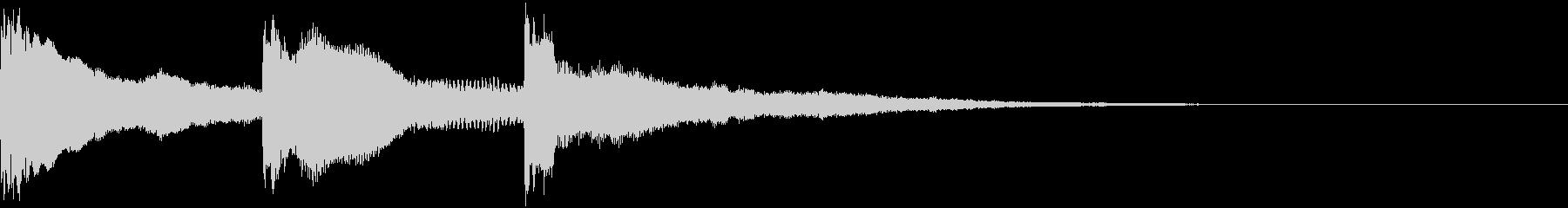 響きのあるホラーなジングルの未再生の波形