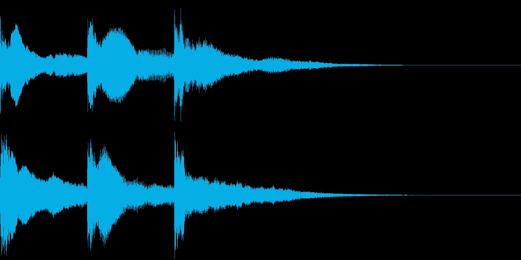 響きのあるホラーなジングルの再生済みの波形