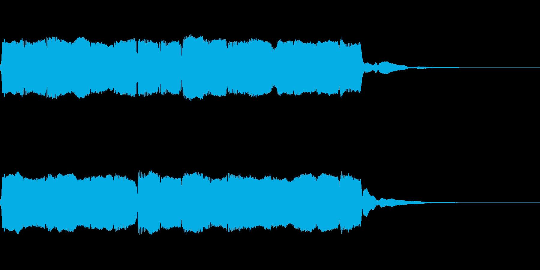 笛のアイキャッチ(ゆったり)の再生済みの波形