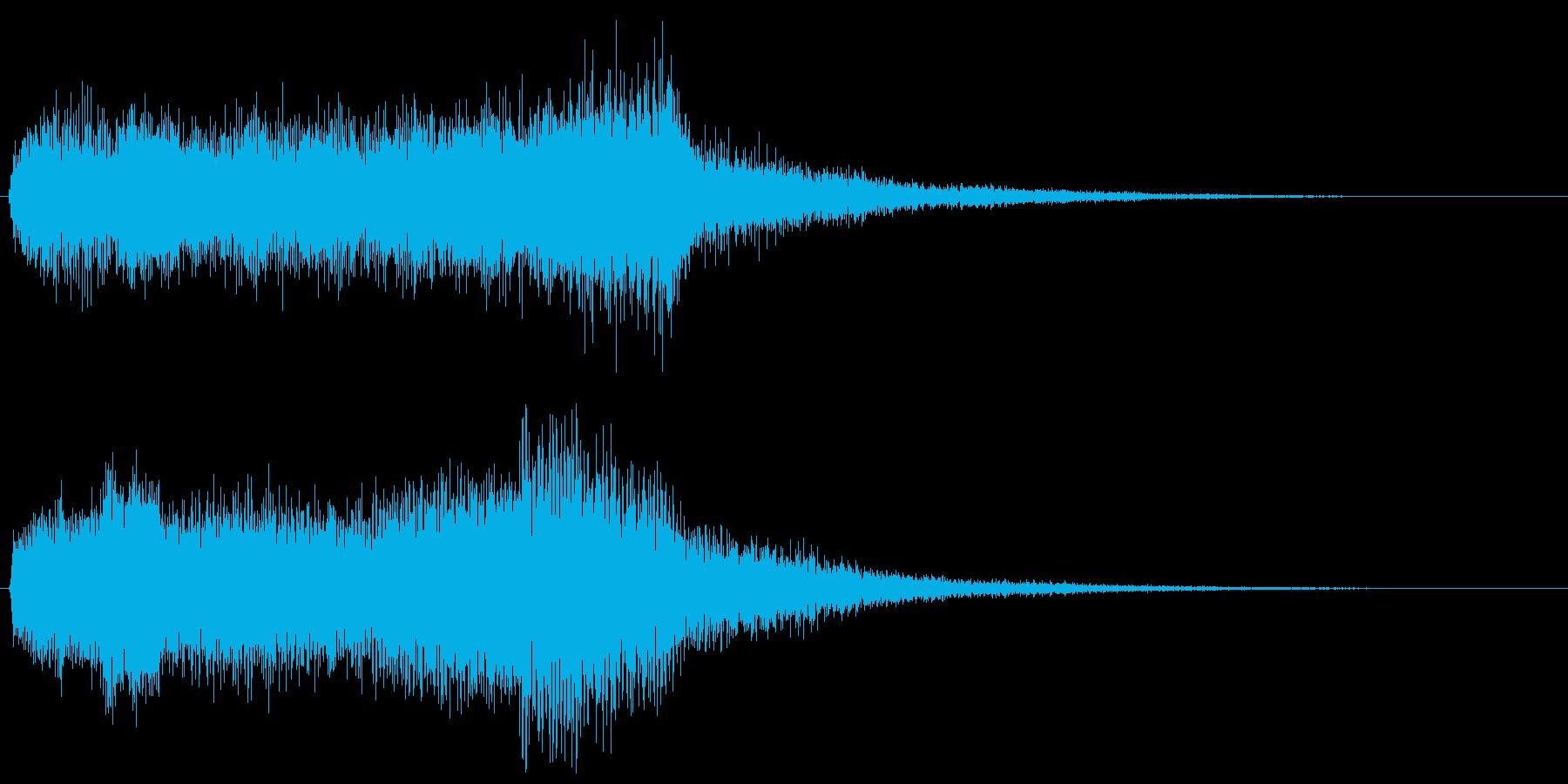 ミステリアスな怖いイメージの音 オルガンの再生済みの波形
