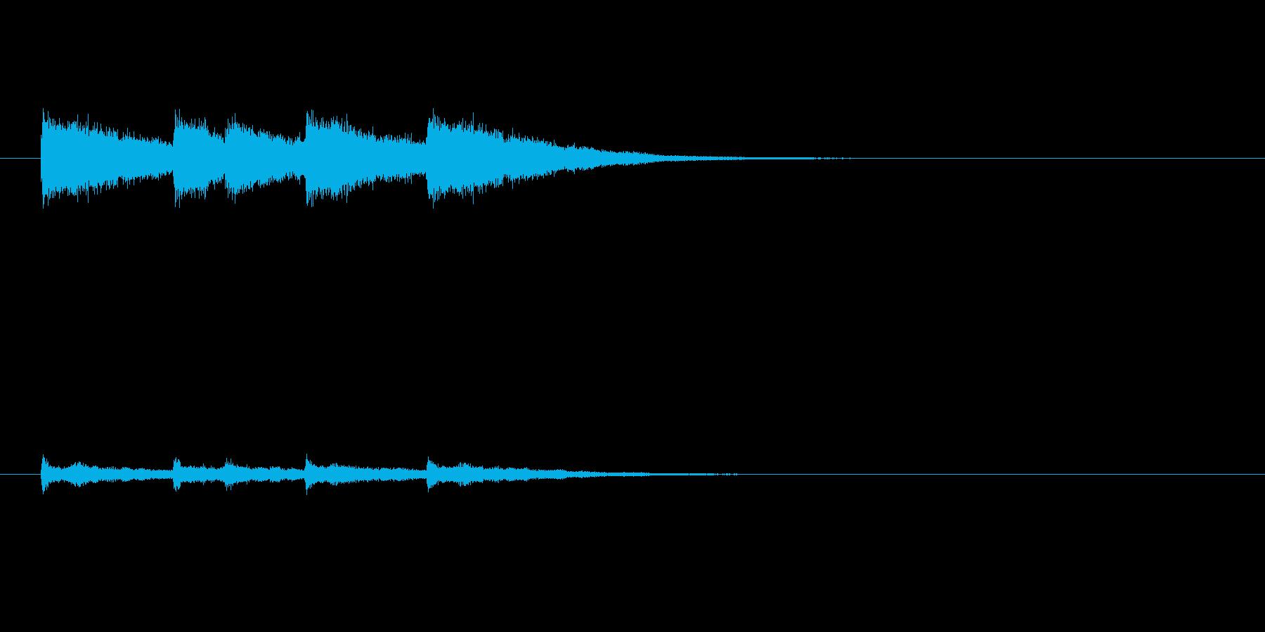 祝福の鐘の音の再生済みの波形
