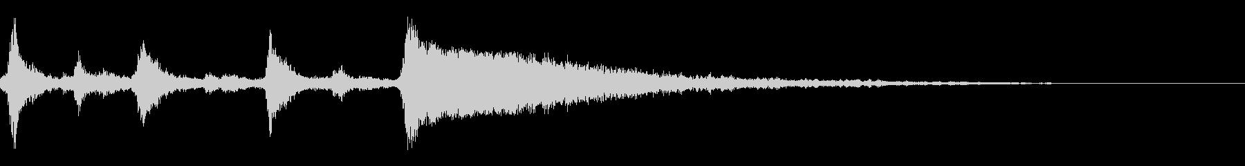 クリスマスのベル、鈴の効果音 ロゴ07の未再生の波形