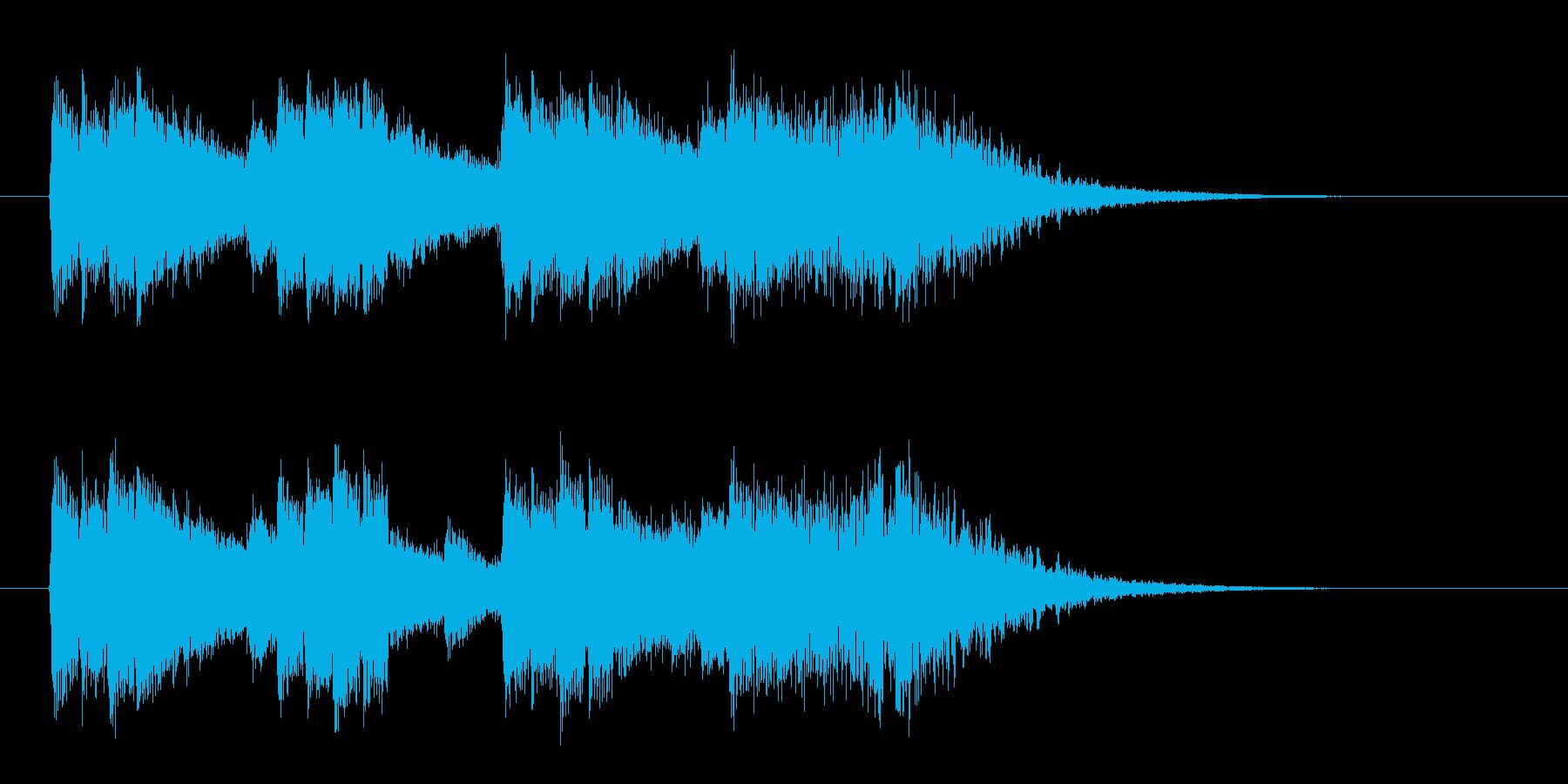 広がり感ある迫力のシンセサウンドの再生済みの波形