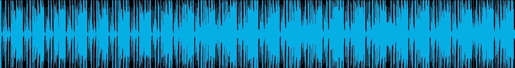ノリの良いエレクトロ系BGMの再生済みの波形