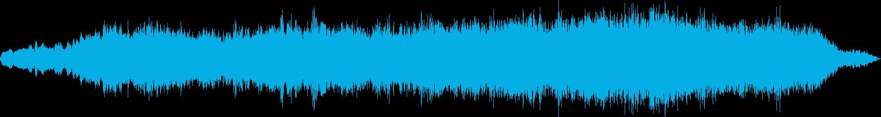 アンビエントな癒されるヒーリング音楽の再生済みの波形