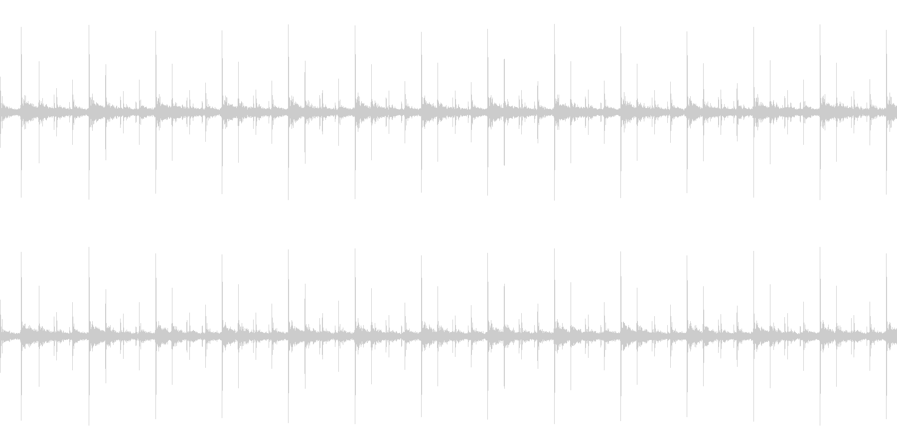 かつかつ(足音)の未再生の波形