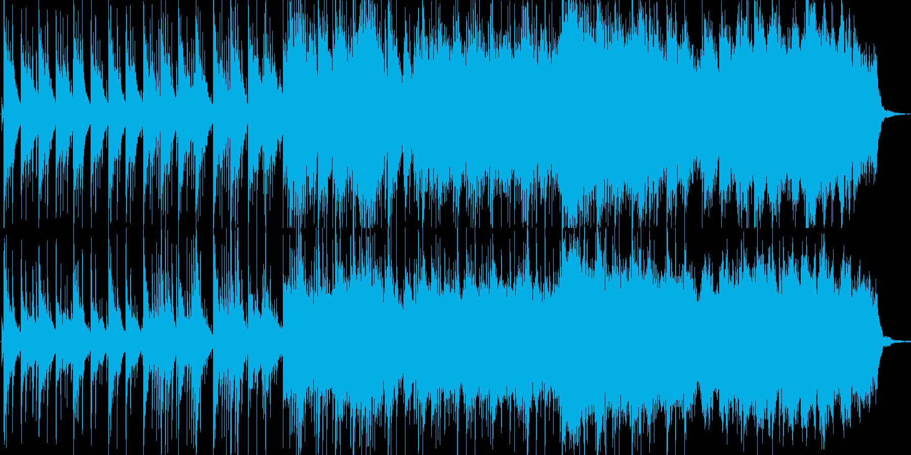 ピアノメインの感動的で爽やかな楽曲の再生済みの波形