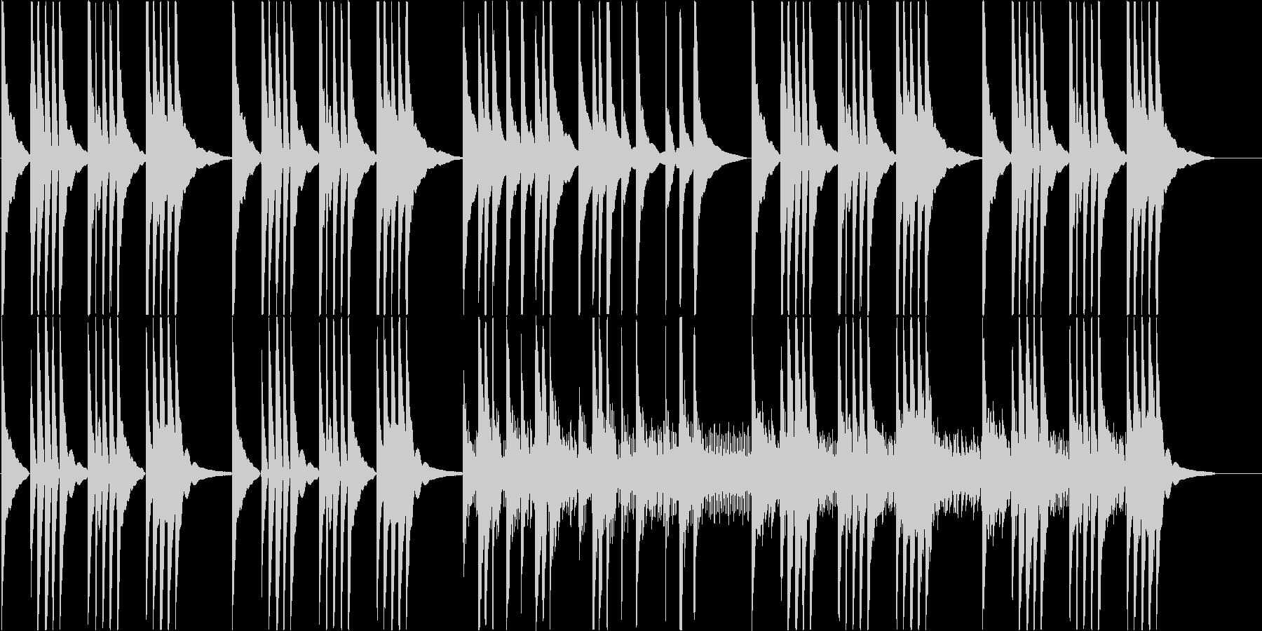 沖縄音階でゆっくりとしたBGMの未再生の波形