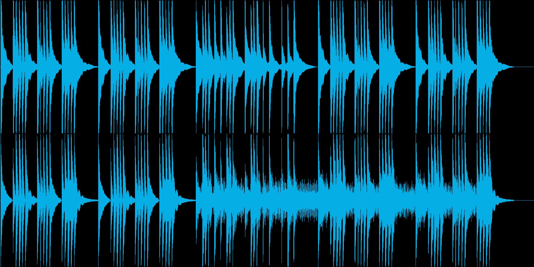 沖縄音階でゆっくりとしたBGMの再生済みの波形