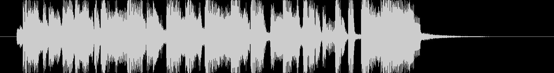 軽快なノリのファンキーなジングルの未再生の波形