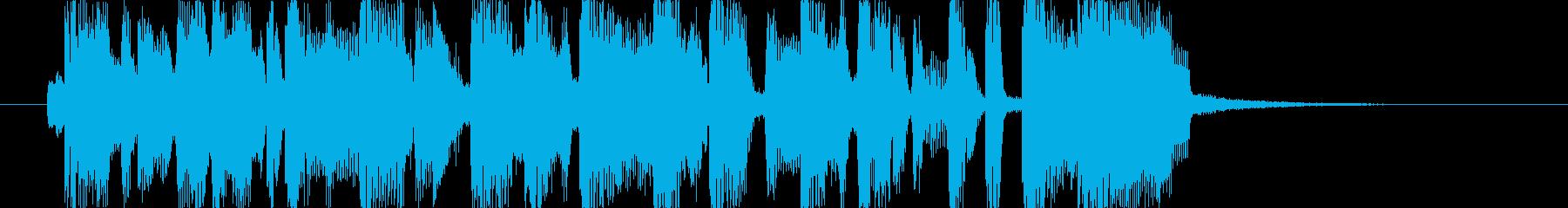 軽快なノリのファンキーなジングルの再生済みの波形