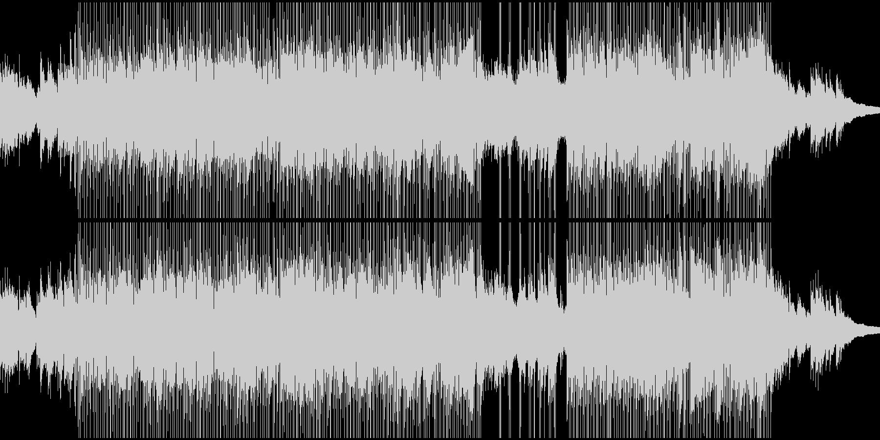 やや寂しい感じのBGMの未再生の波形