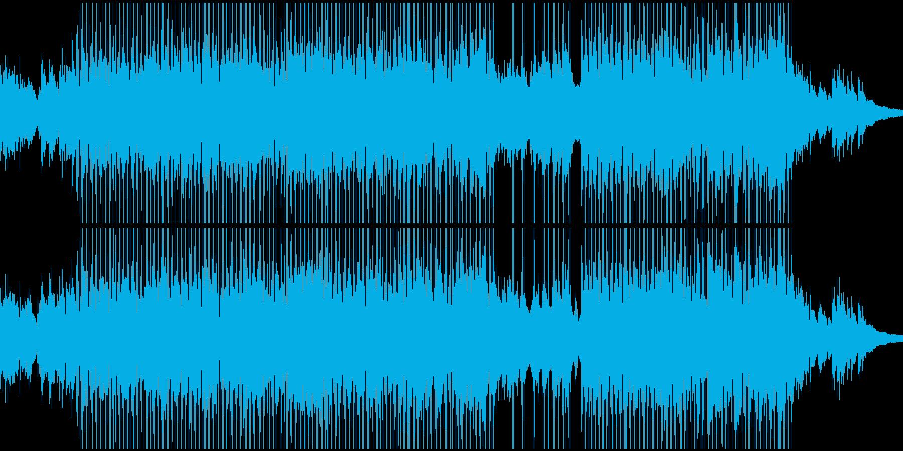 やや寂しい感じのBGMの再生済みの波形