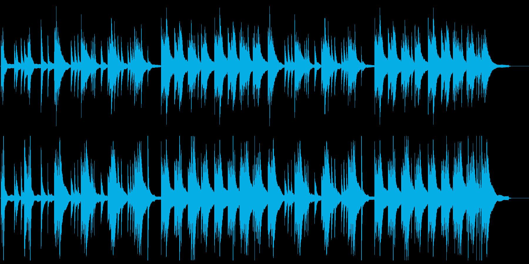 ゆったりと優雅なピアノBGMの再生済みの波形