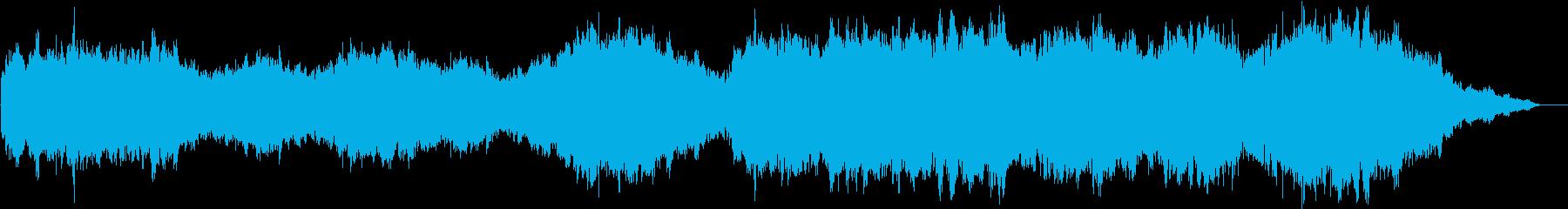 キラキラしたメロディーと聖歌隊のイメージの再生済みの波形