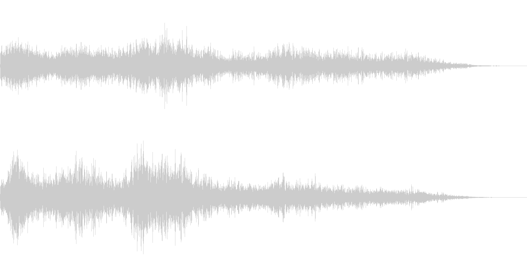 ホラー映画に出てきそうなノイズ系音源04の未再生の波形