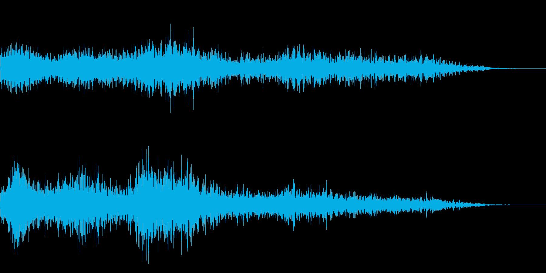 ホラー映画に出てきそうなノイズ系音源04の再生済みの波形