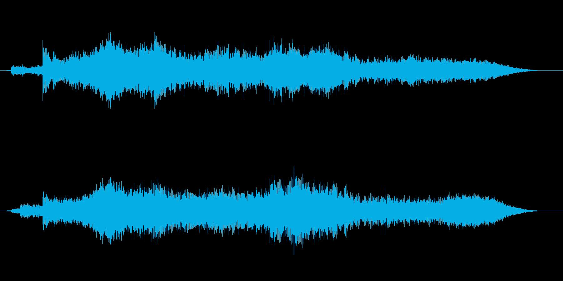 不気味なベルのアイキャッチ音の再生済みの波形