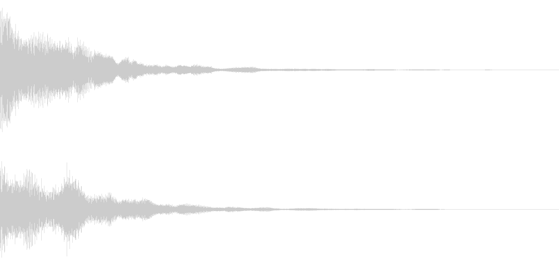 場面転換、ゲームオーバー時のサウンドの未再生の波形