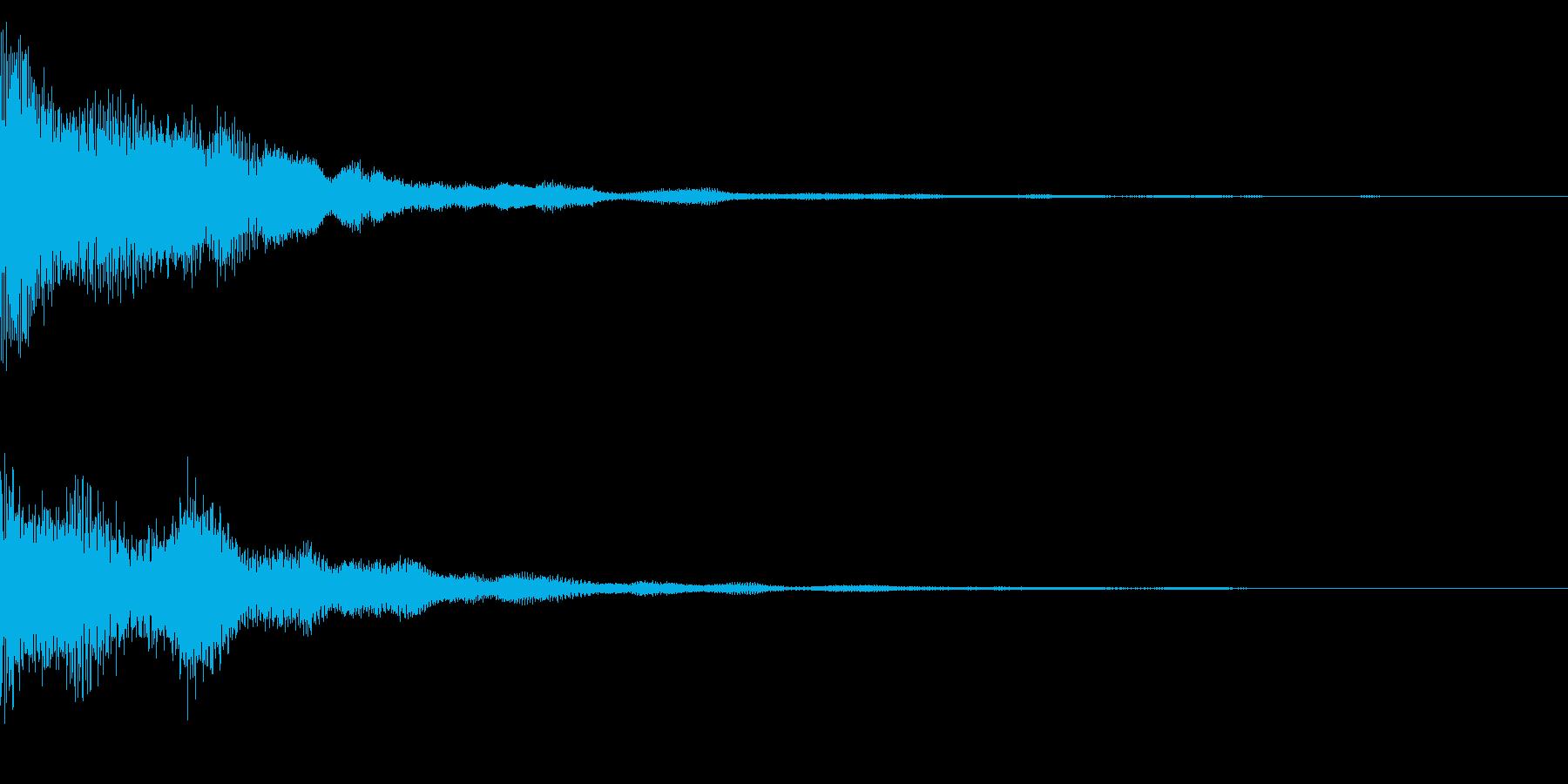 場面転換、ゲームオーバー時のサウンドの再生済みの波形