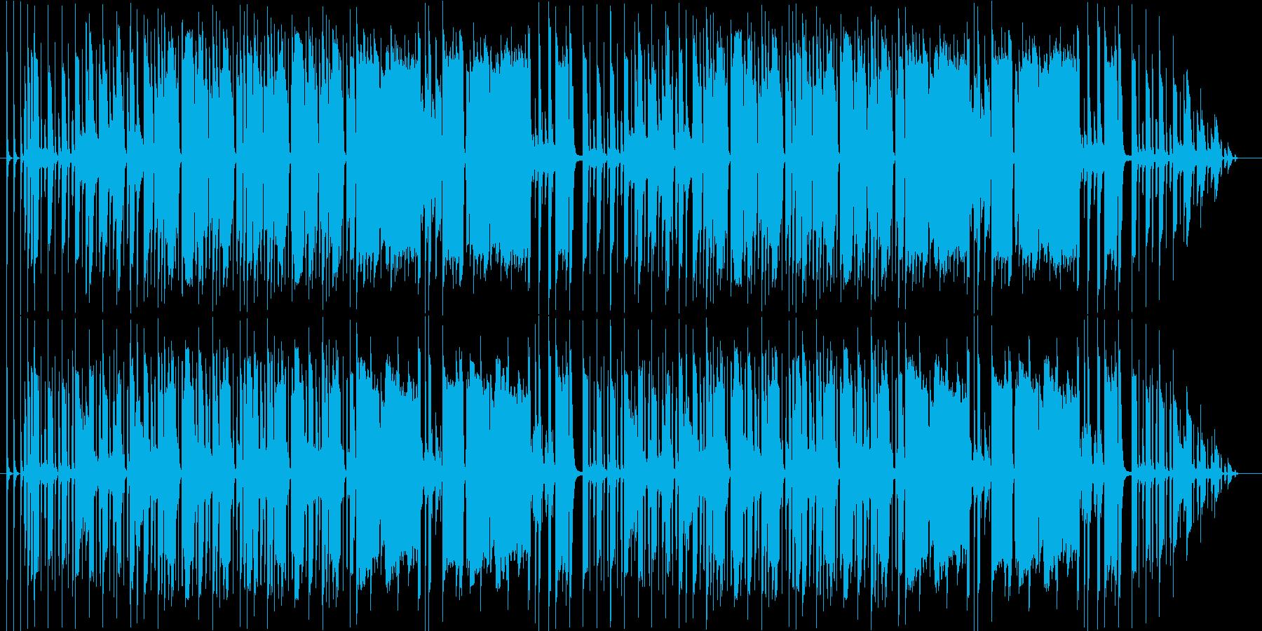 笛とアコーディオンのゆるいBGMの再生済みの波形