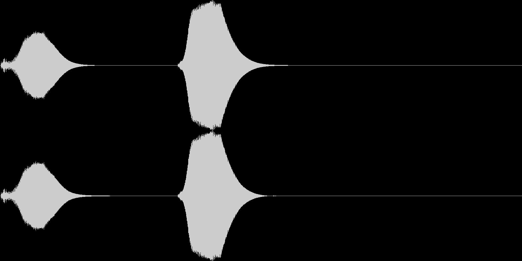 ポッポー。鳩時計の時報A(高・短)の未再生の波形
