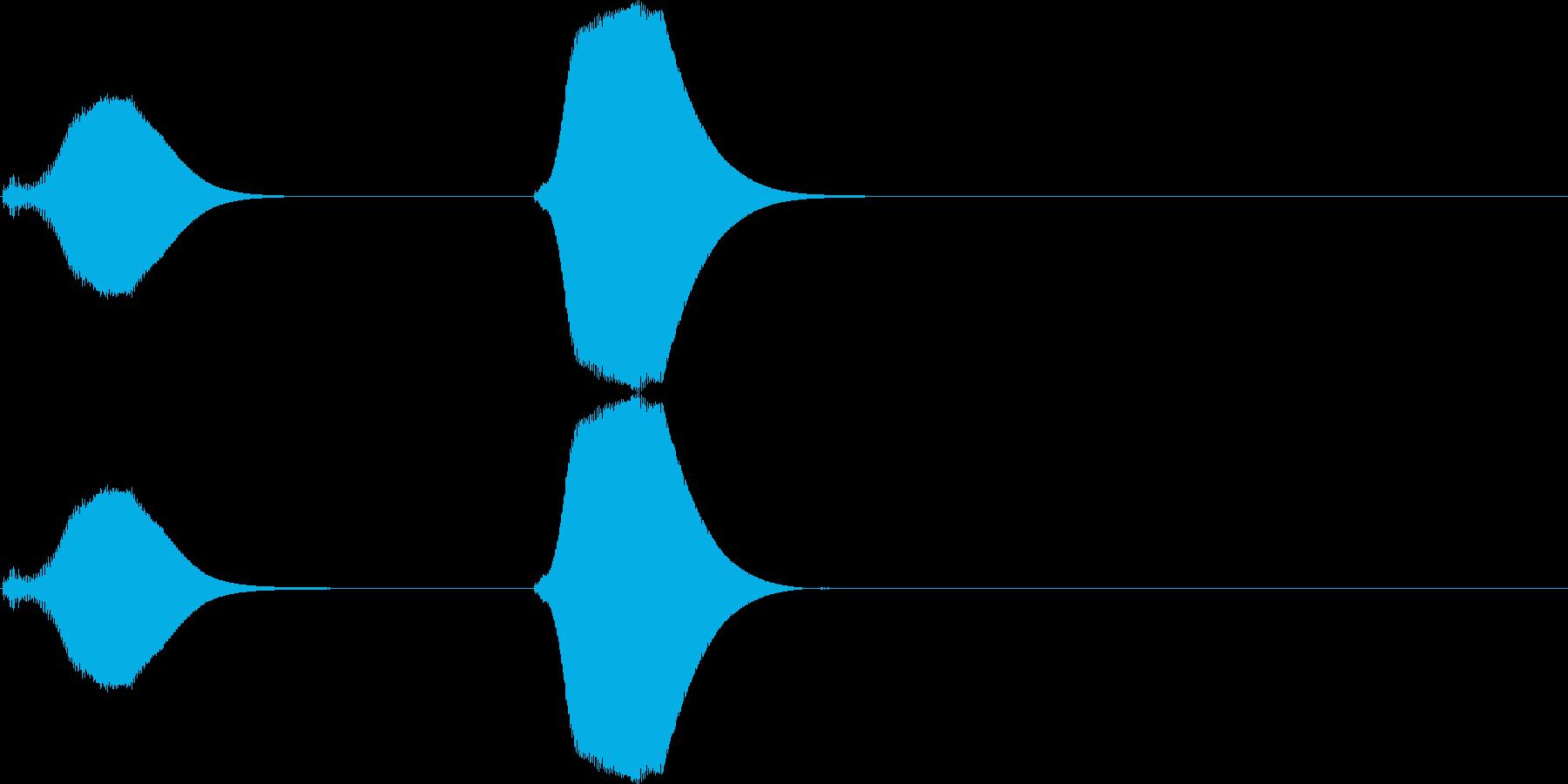 ポッポー。鳩時計の時報A(高・短)の再生済みの波形