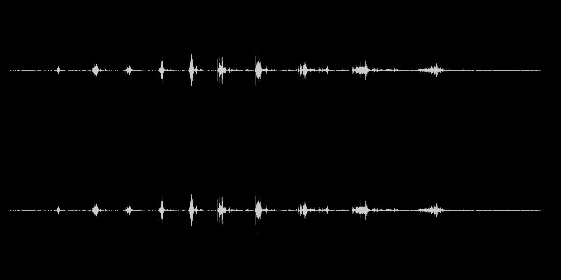 ザッザッジリ...という足音の未再生の波形