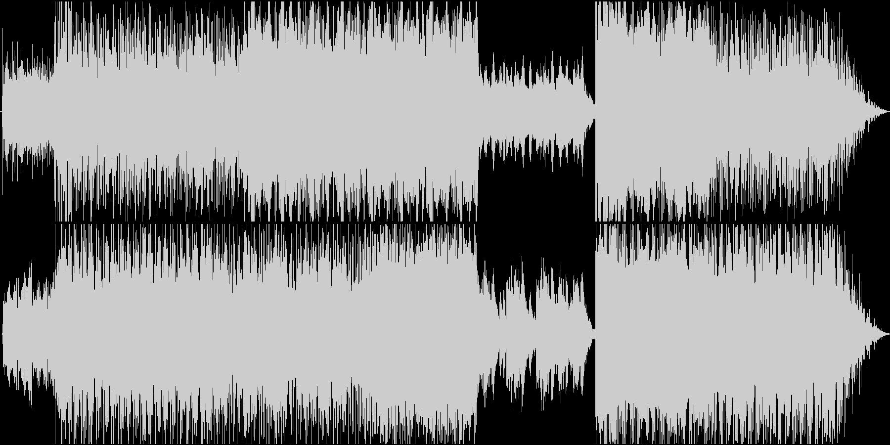 フワフワ宙に漂うようなギターループ音源の未再生の波形