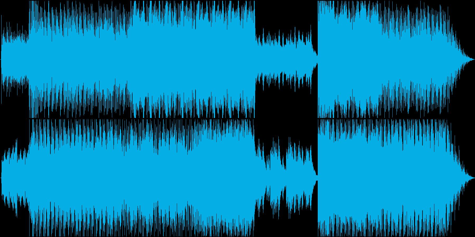 フワフワ宙に漂うようなギターループ音源の再生済みの波形