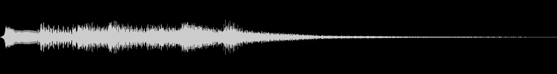 和風の場面転換音(琴/ハープの音色)高音の未再生の波形