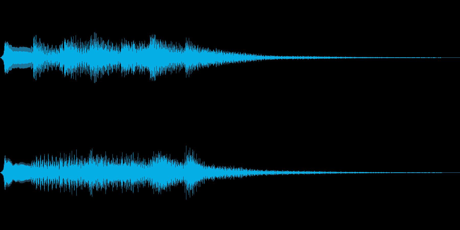 和風の場面転換音(琴/ハープの音色)高音の再生済みの波形