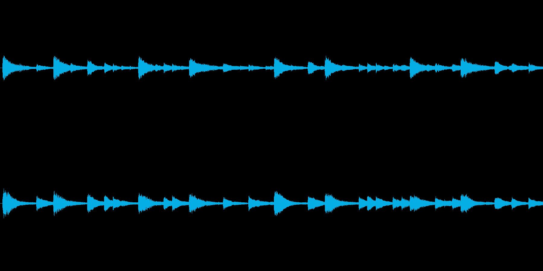 piano loop ピアノループの再生済みの波形