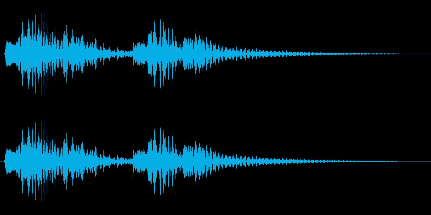 木琴やグロッケンのかわいらしい効果音の再生済みの波形