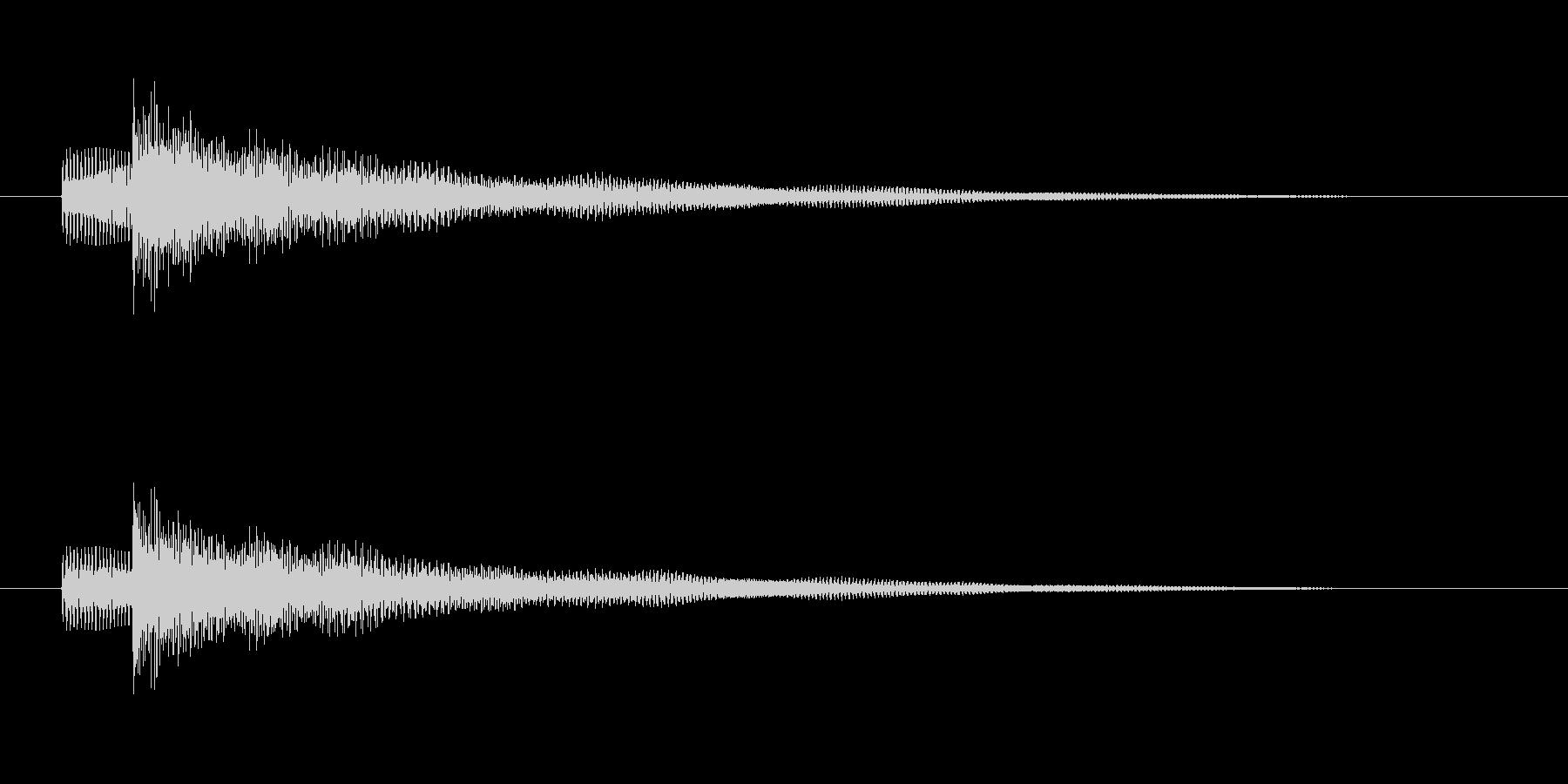 エレキベースの短いメロディーの未再生の波形