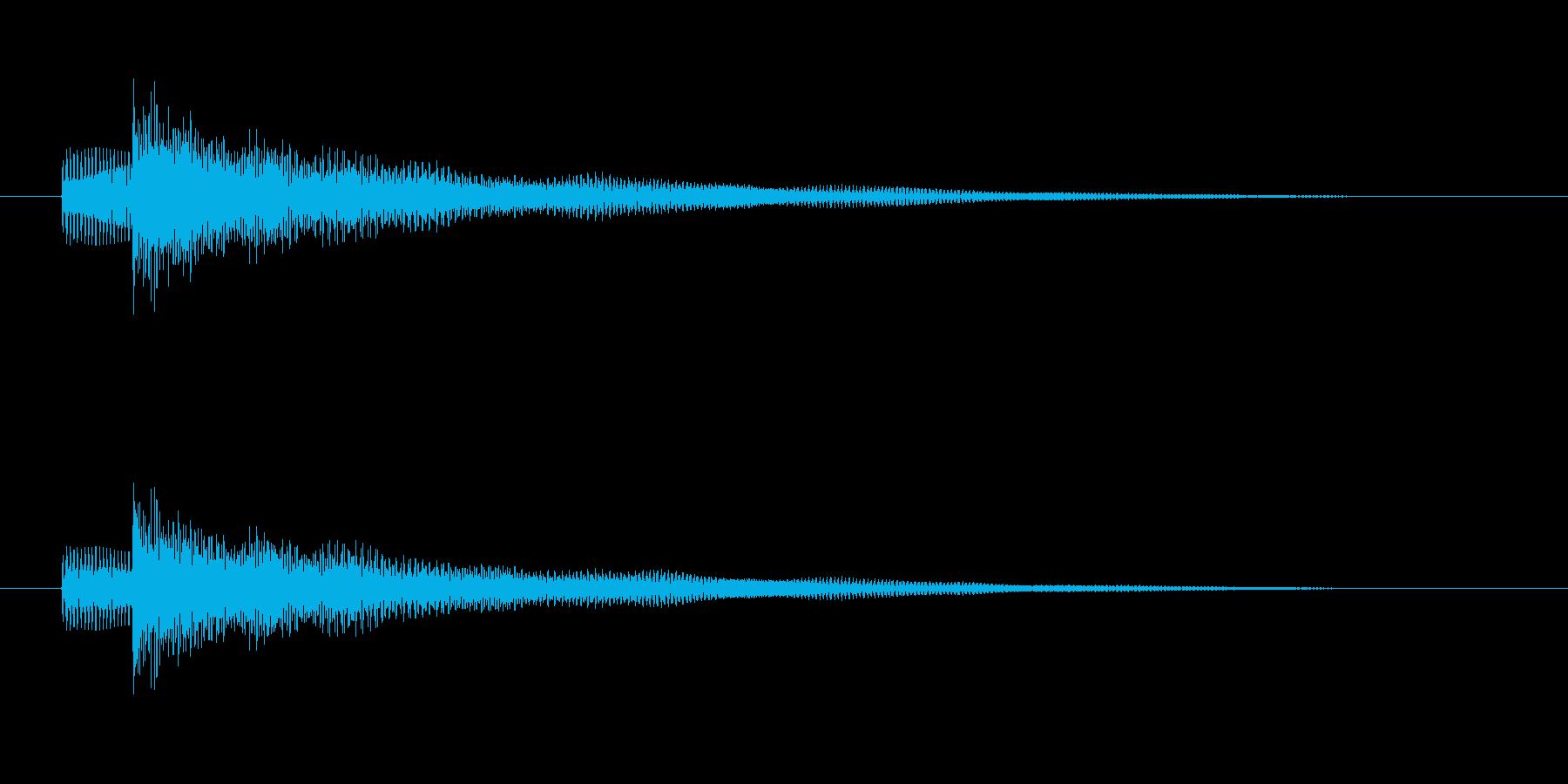 エレキベースの短いメロディーの再生済みの波形