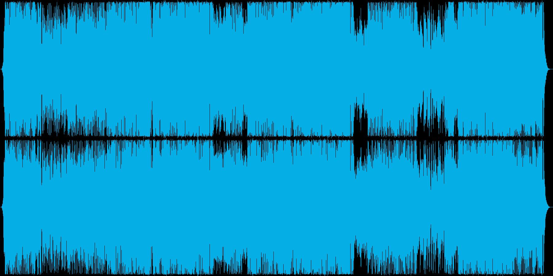 ストリングスの効いた暗めダンス系ポップスの再生済みの波形