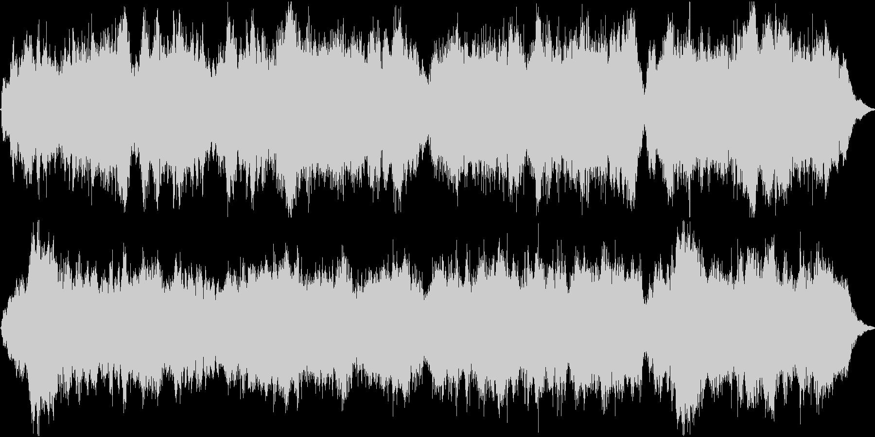 優しく懐かしい唱歌「故郷」弦楽合奏30sの未再生の波形