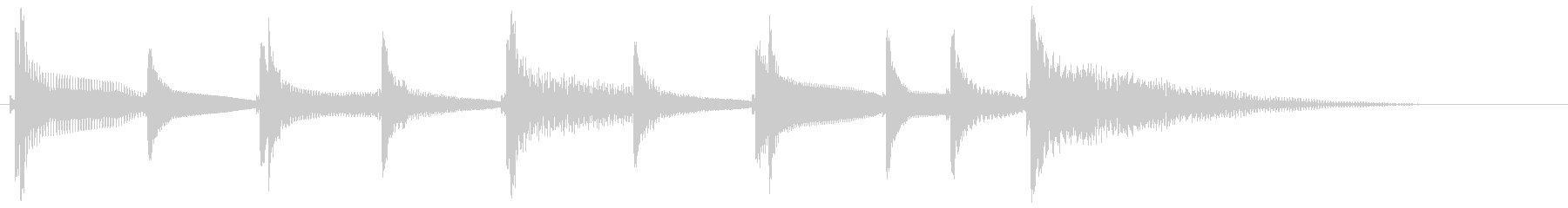 沖縄風通知音2の未再生の波形