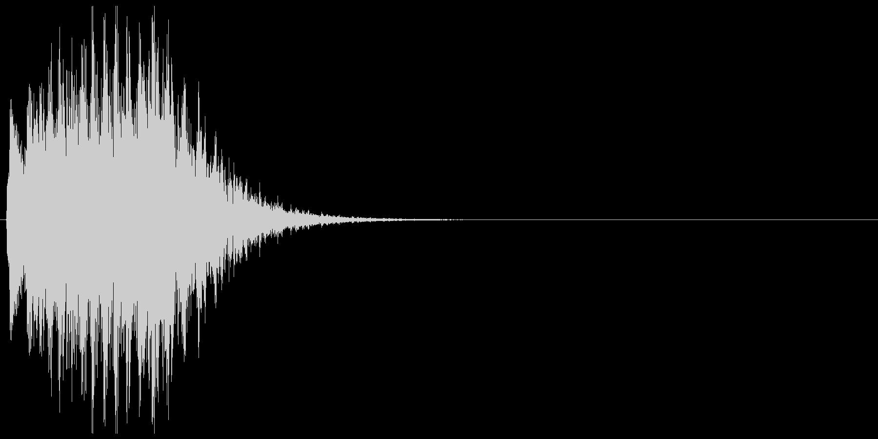 テュルルルルン↓(失敗、ゲームオーバー)の未再生の波形