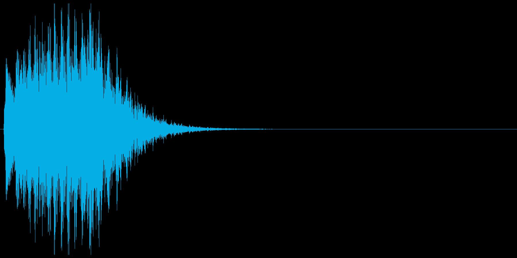 テュルルルルン↓(失敗、ゲームオーバー)の再生済みの波形