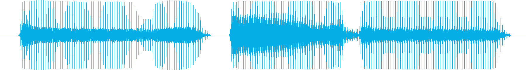 ゲームオーバーの再生済みの波形