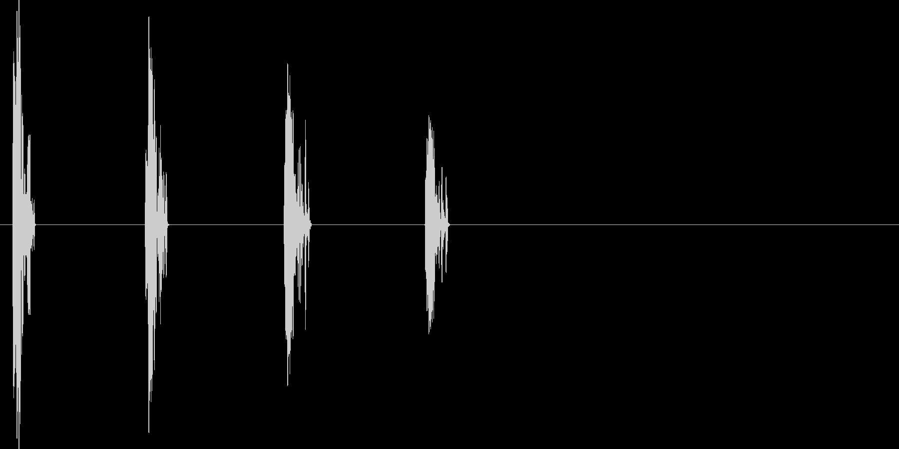 ファミコン風、階段移動の効果音ですの未再生の波形