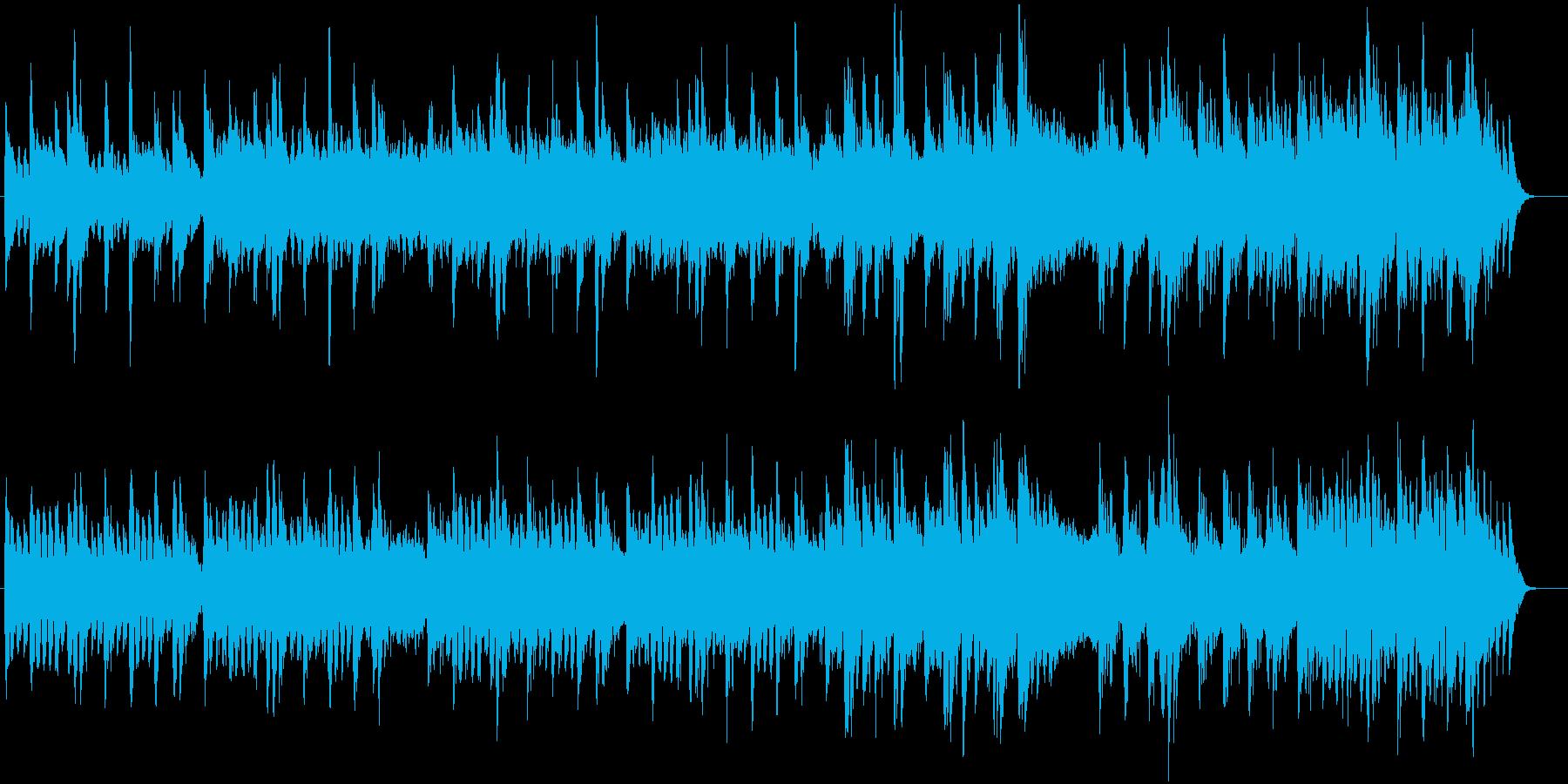 メロディーありインストバラードの再生済みの波形