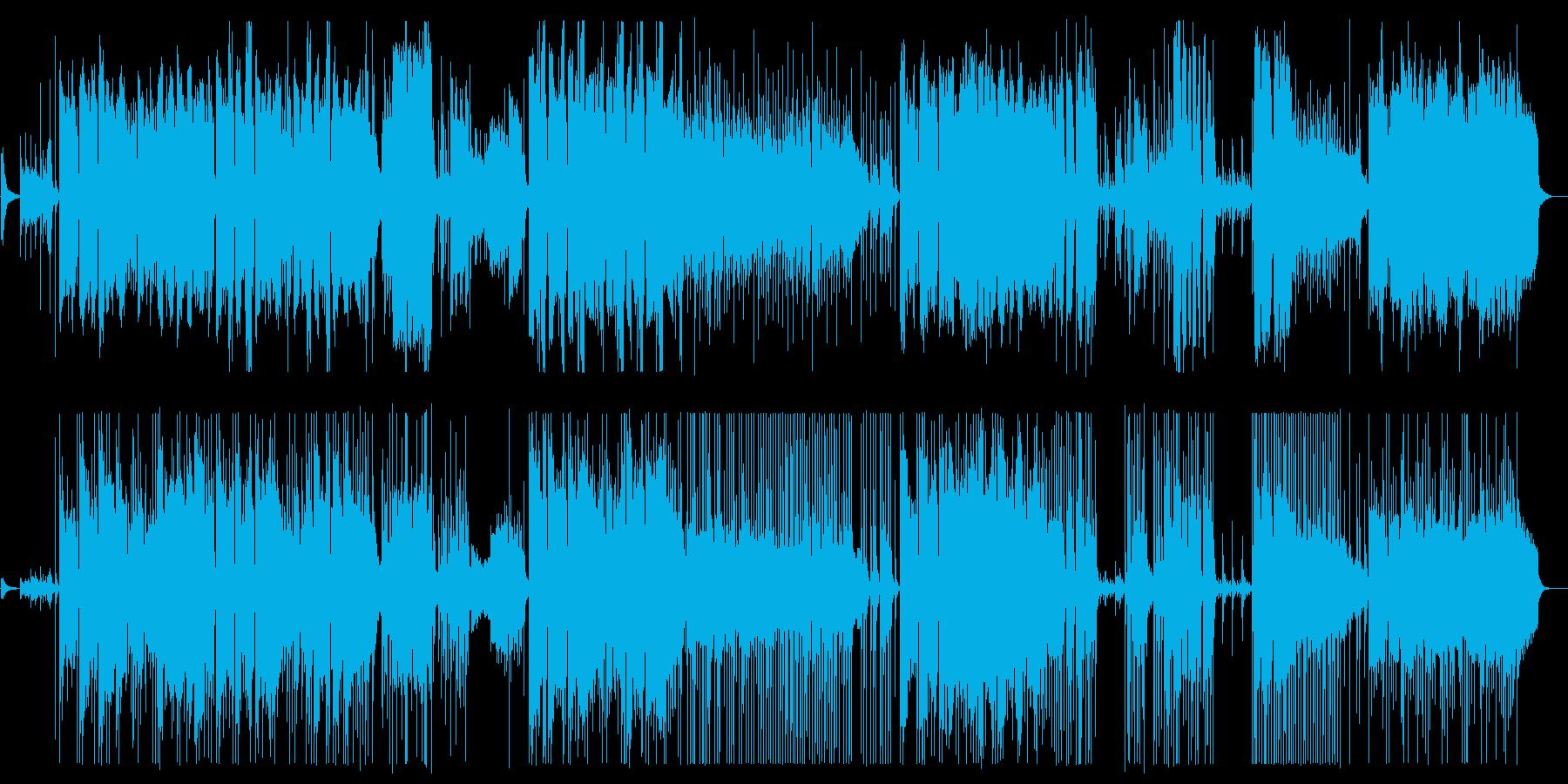 美しく清らかな弦管楽器シンセサウンドの再生済みの波形