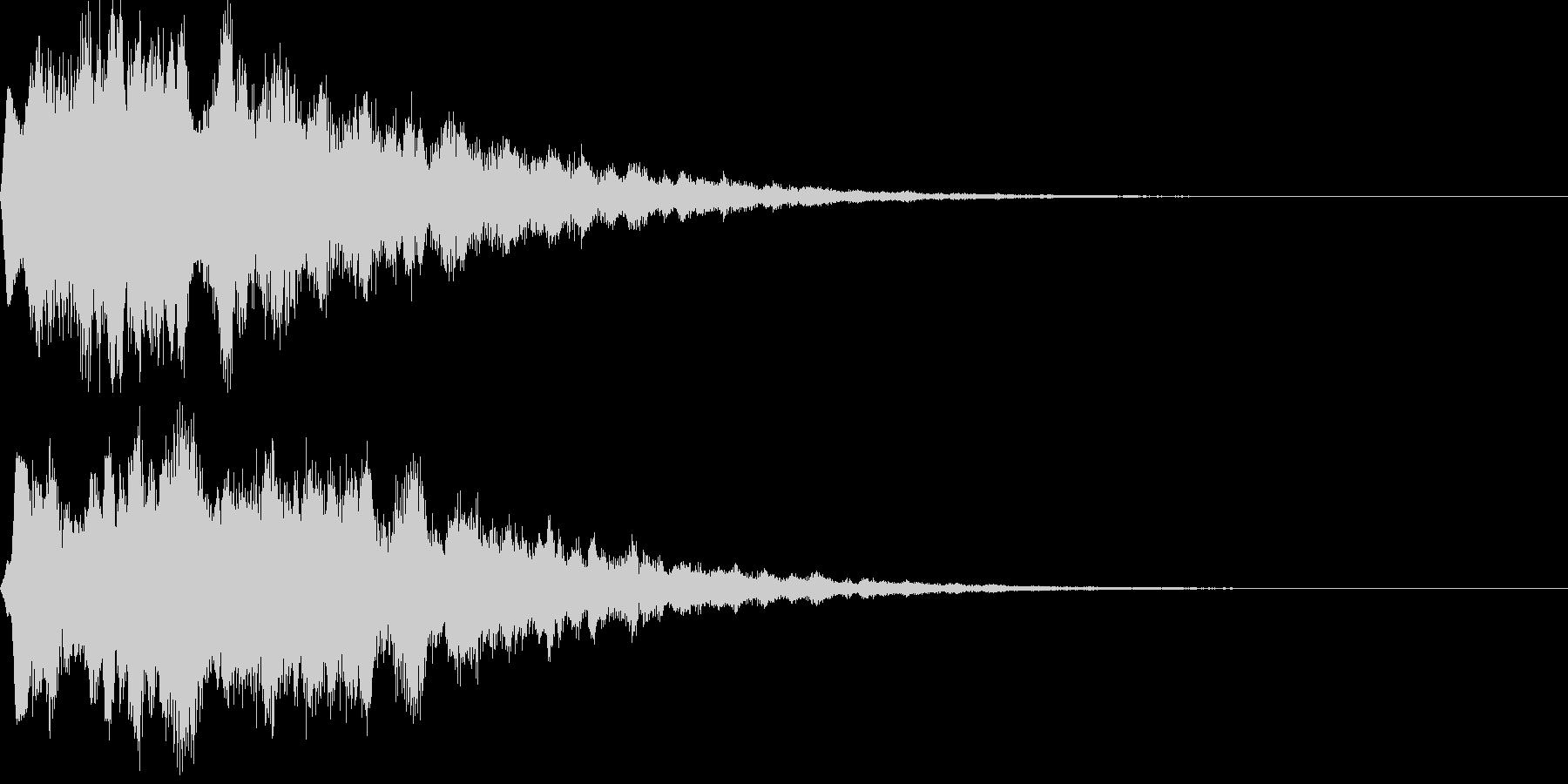 サウンドロゴ18(シンセ系)の未再生の波形